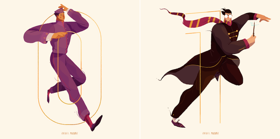 Nice Illustrations of Characters and Numbers (11 pics)