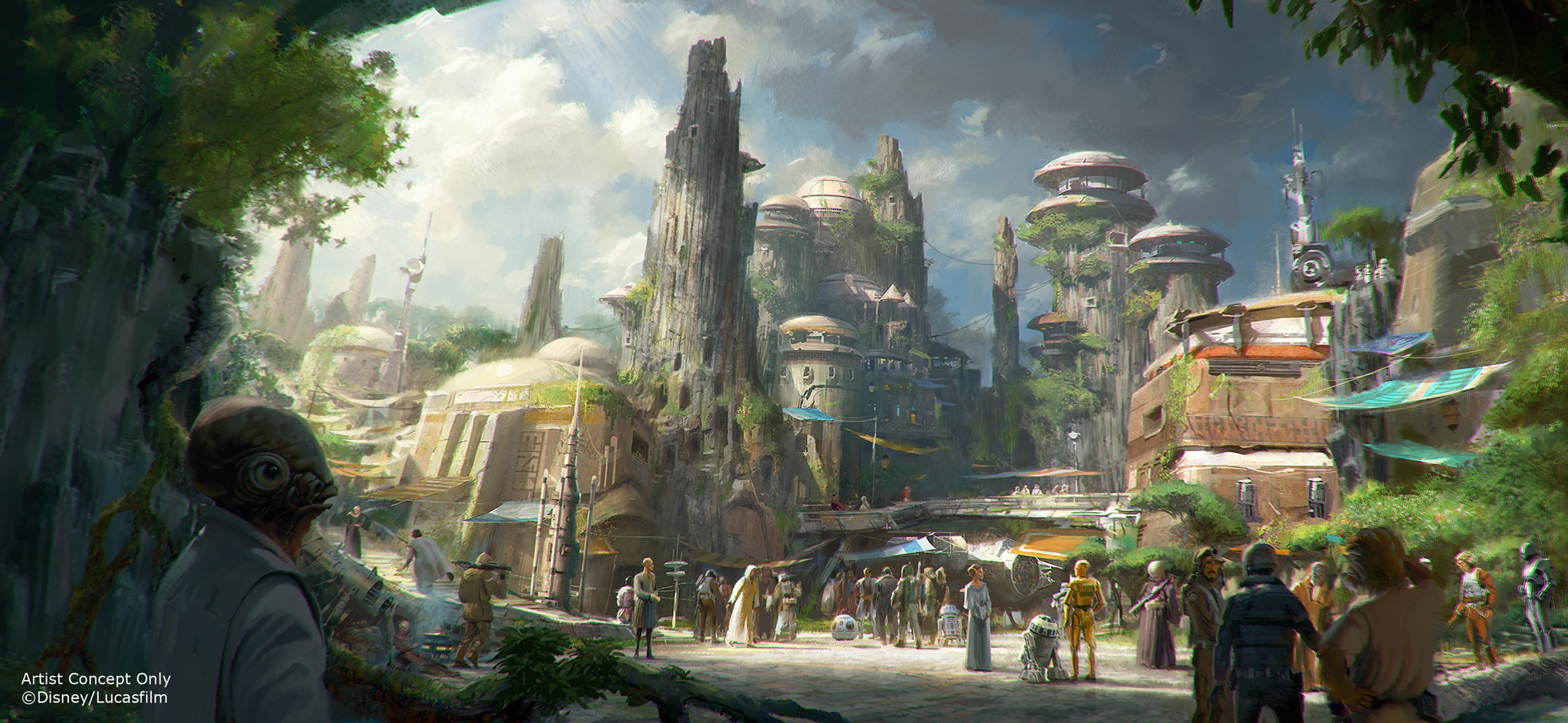 Disney Releases Concept Art for Upcoming Star Wars-Themed Lands