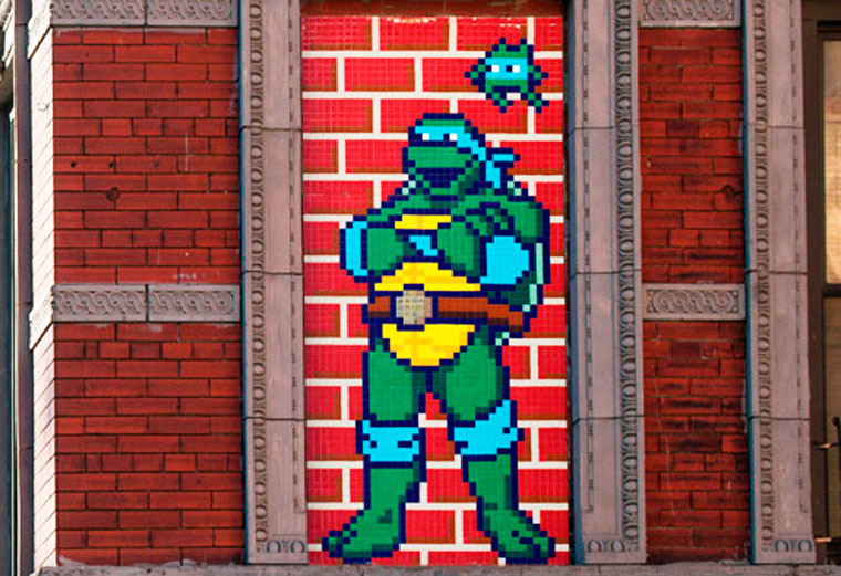 Street Art - Invader installs 42 new creations in the streets of New York