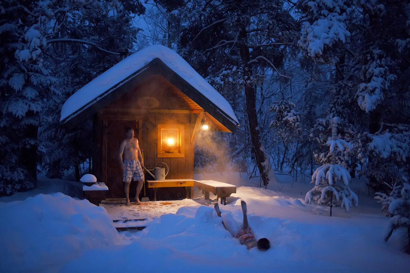 финская сауна, как париться в сауне