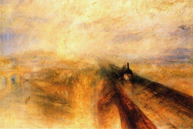 Художник - Джозеф Тёрнер, «Дождь, пар и скорость», 1844г