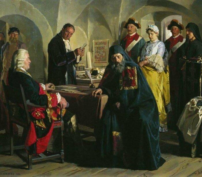 Княжна Прасковья Григорьевна Юсупова перед пострижением. 1886