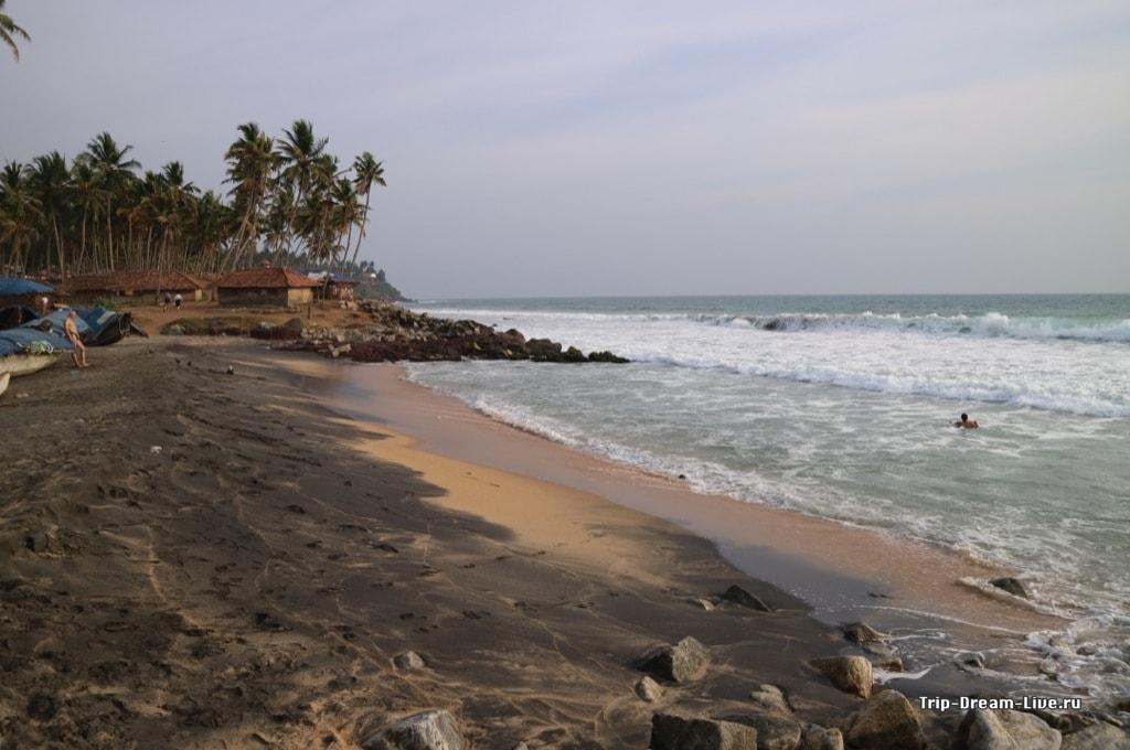какой пляж лучше ковалам или варкала