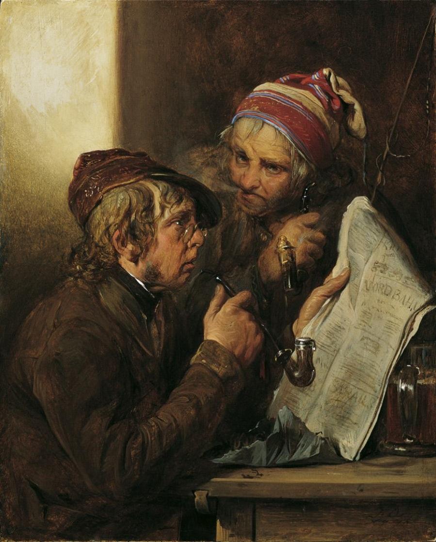 Josef_Danhauser,_Newspaper_readers_,_1840._Oil_on_wood,_21_x_17_cm._Belvedere,_Vienna.jpg