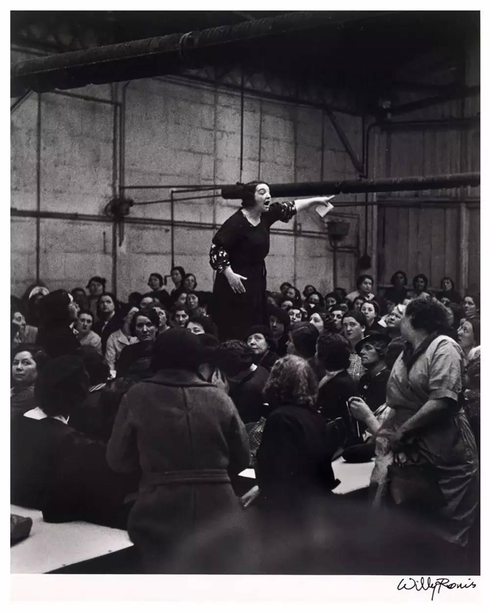 1938. Работницы во время забастовки на заводе Ситроен