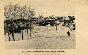 Вид города от Святых ворот монастыря