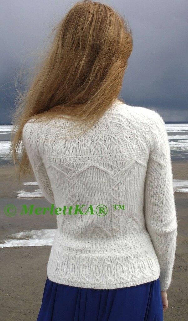 志田圆肩长袖衫 - 编织幸福 - 编织幸福的博客