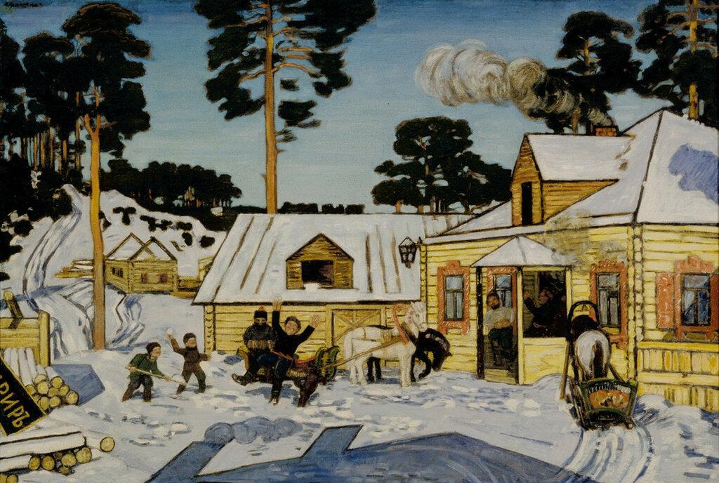 Новый трактир. 1909Холст, масло. 66 x 96 смГосударственная Третьяковская галерея, Москва