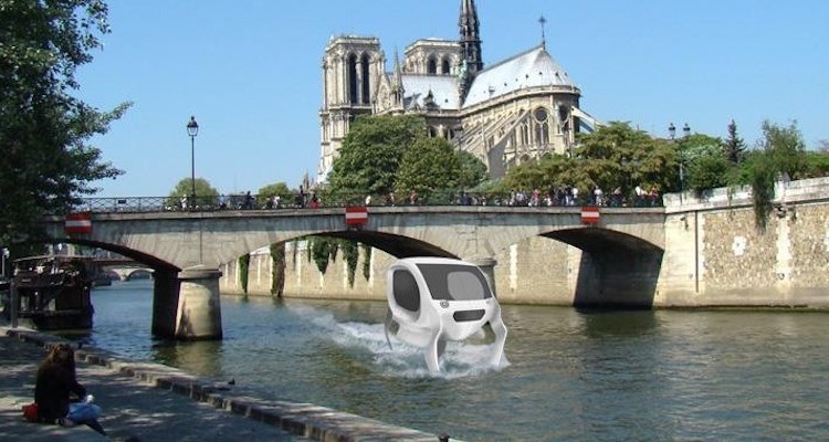 Летающее водное такси в Париже