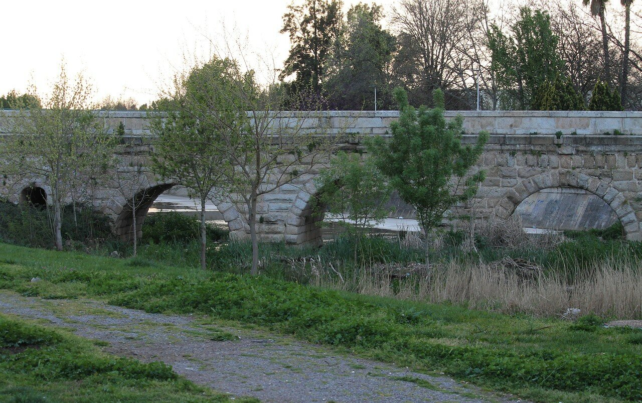 Roman bridge over Albarregas creek, Mérida
