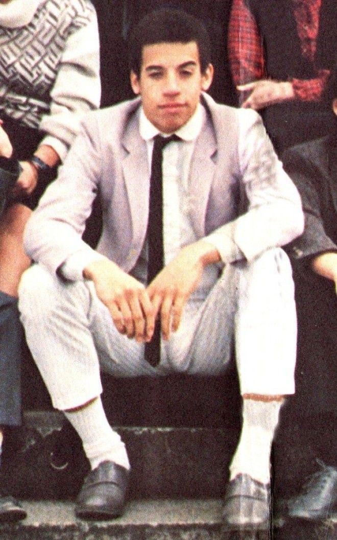 """Арнольд Шварценеггер с дублером на съемках фильма """"Коммандо"""", 1985 год."""