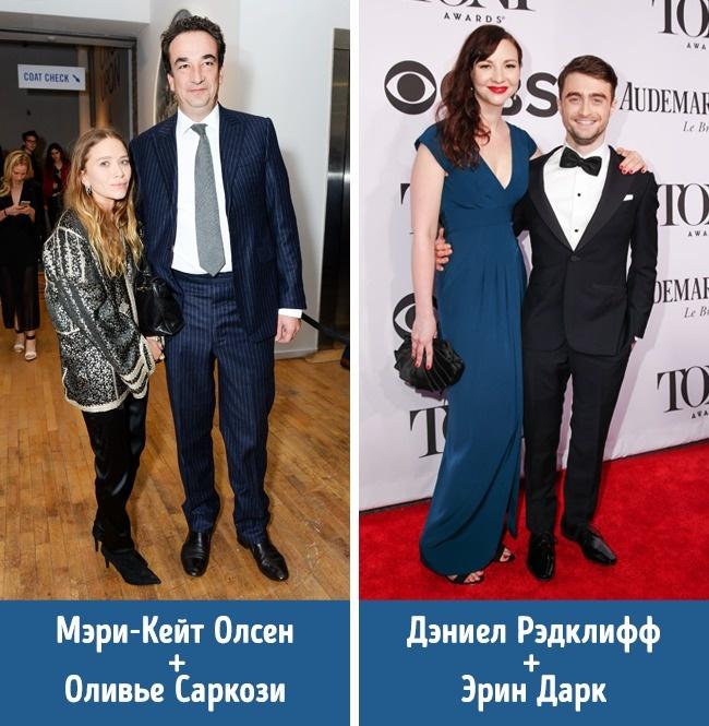 © rexfeatures  Мэри-Кейт Олсен (1,57см) и Оливье Саркози (1,90см). Зная любовь Мэри-Кейт ко