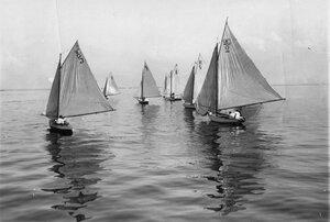 Яхты во время гонок по Финскому заливу