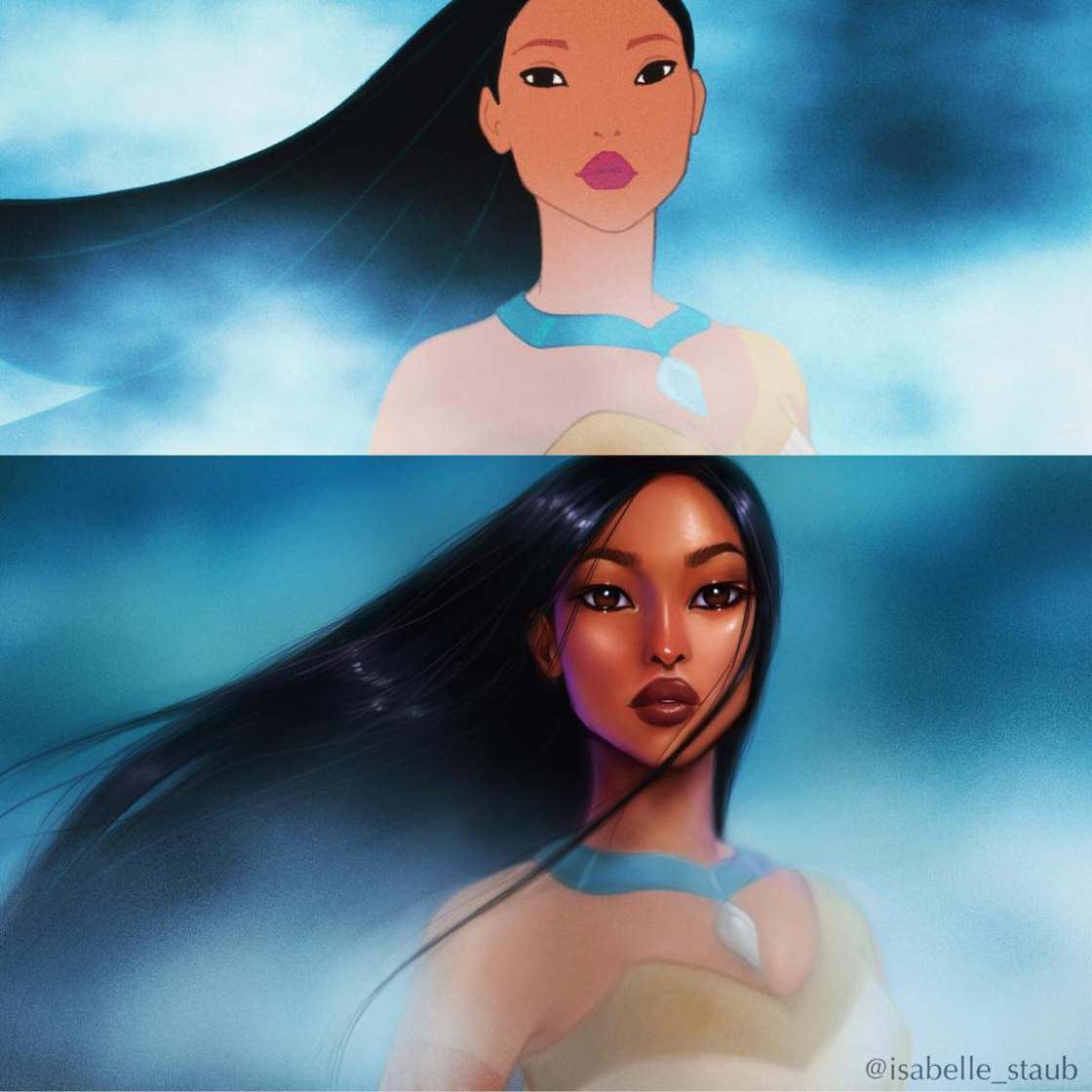 Repainting the famous Disney Princesses