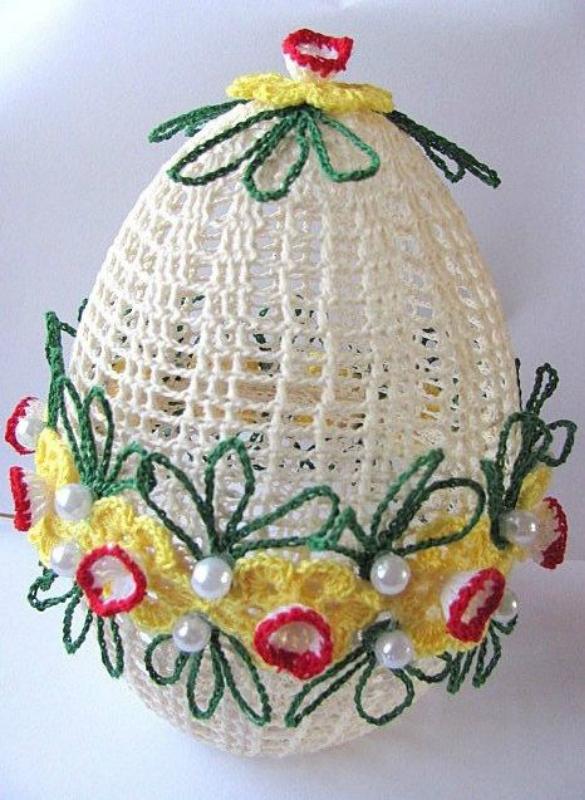 Вязаный пасхальный декор