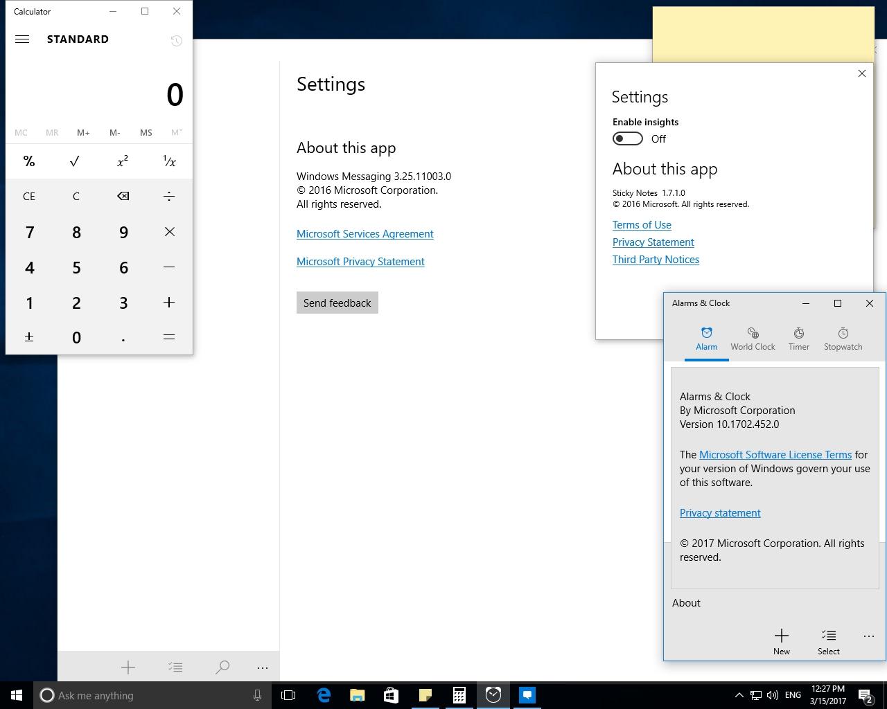 windows 10 version 1607 with update 14393.726
