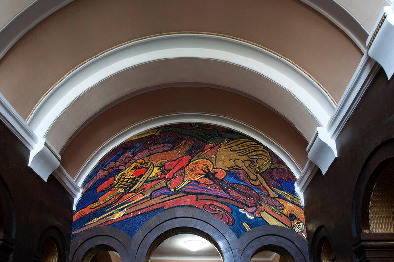 Мозаика, изображающая Аварайрскую битву