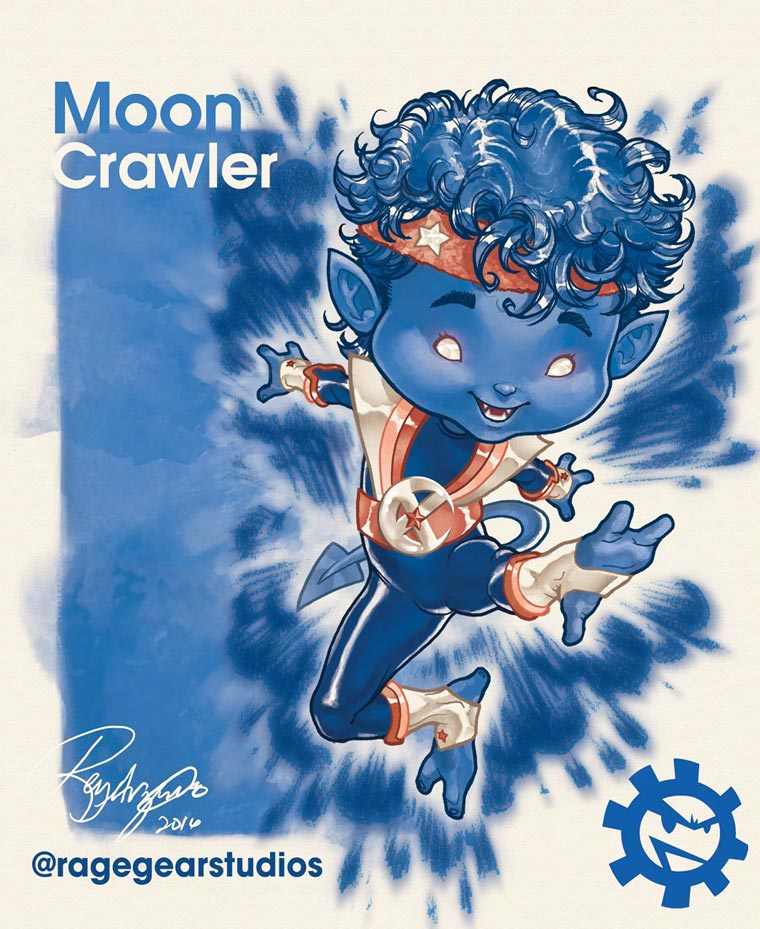 Rainbow Heroes - Les X-Men rencontrent le monde colore de Rainbow Brite