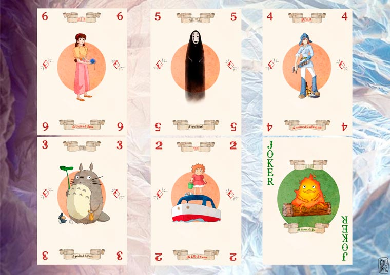 Miyazaki Cards - A cute deck of cards inspired by the movies of Studio Ghibli