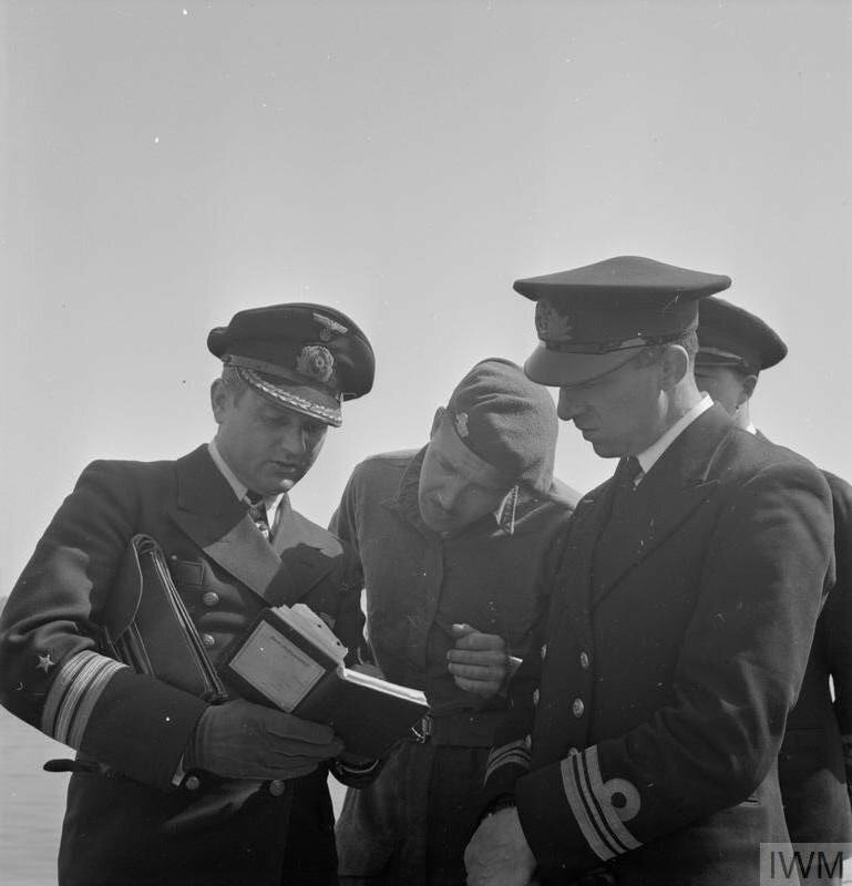 WITH THE NAVY AT WILHELMSHAVEN, MAY 1945
