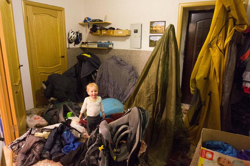 порядок в доме с ребенком после зимнего похода