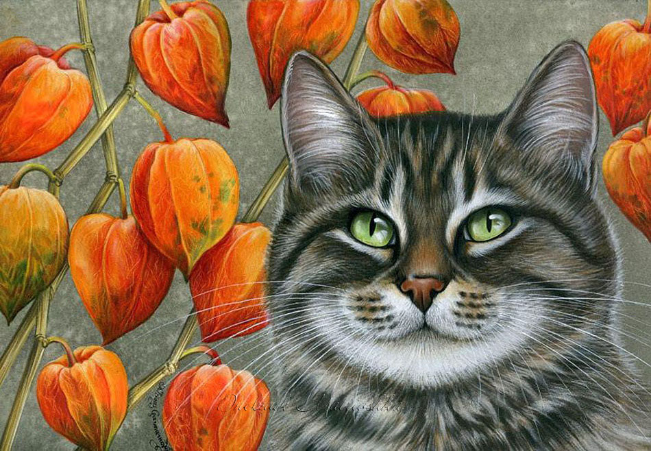 картинки художников рисующих котов аниме никогда погаснет