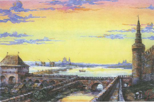 Алевизов ров и укрепления между Беклемишевой башней и Водяными воротами..jpg