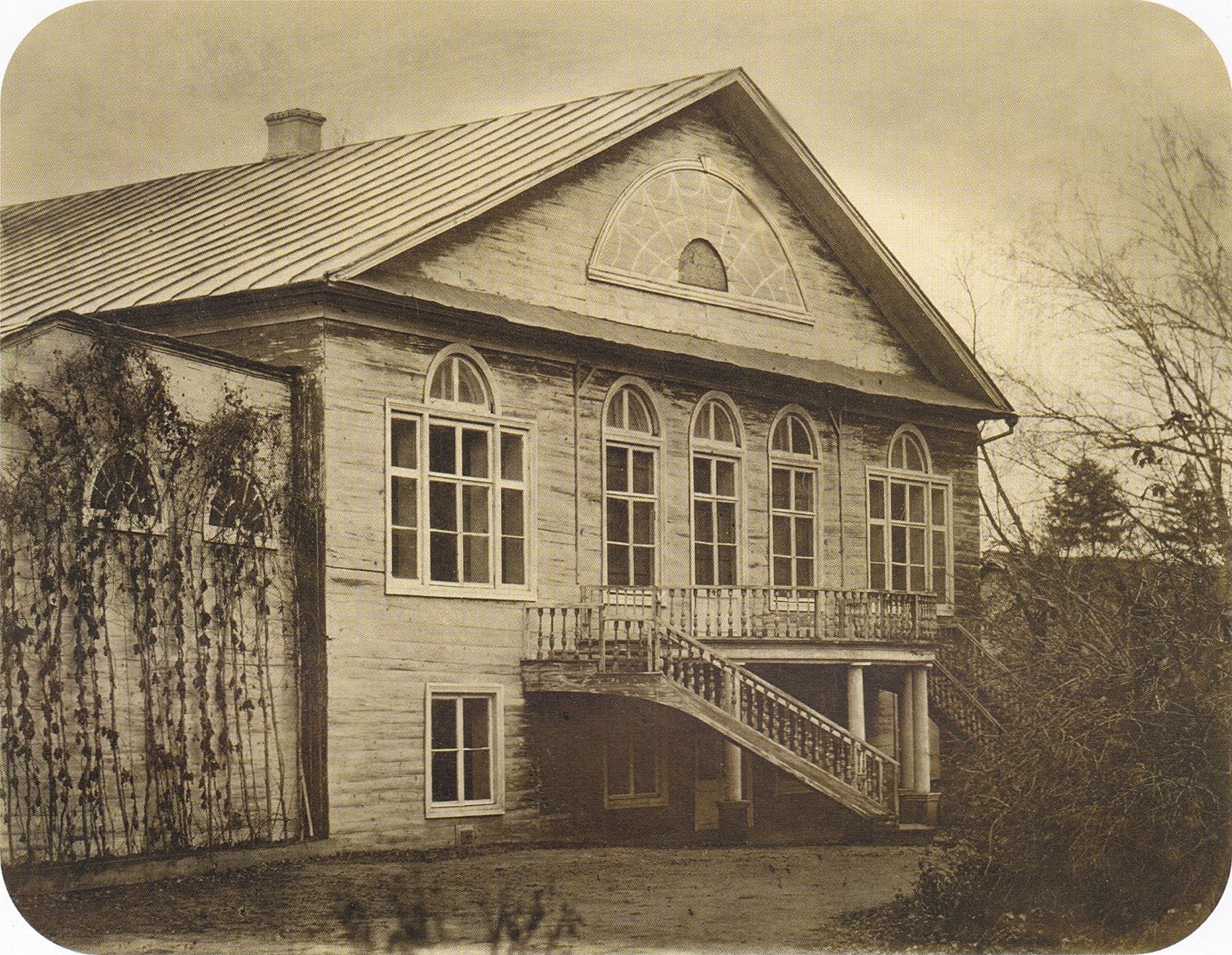 Парковый фасад большого флигеля. 2-я пол. 1860-х.