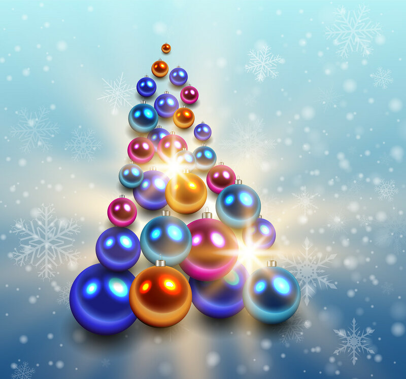 Christmas tree background.