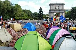 Протесты в Кишинёве продолжаются: день второй