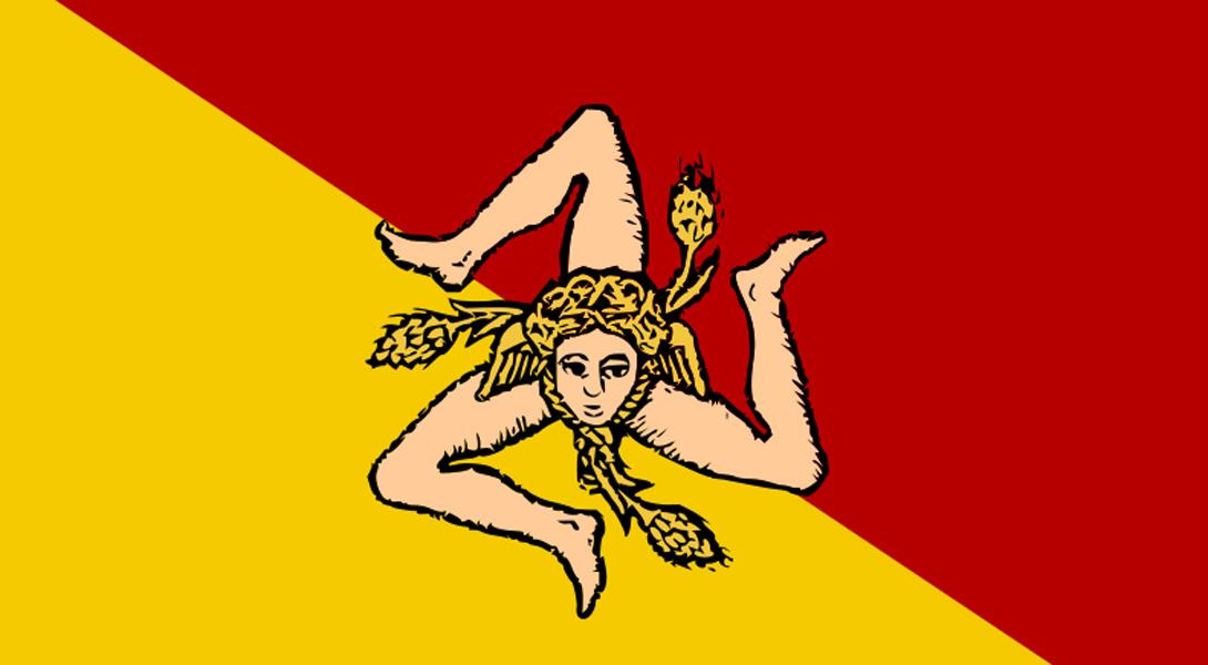 2. Сицилия Древний флаг Сицилии впервые был принят в 1282 году после событий Сицилийской вечерни в П