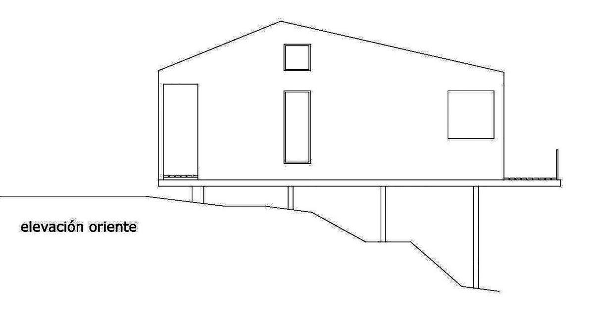Casa LTS, Apio Arquitectos, Дом на берегу озера, дом в лесу, дом на сваях фото, частный дом на сваях, дом на склоне горы, дом на берегу Тодос-лос-Сантос