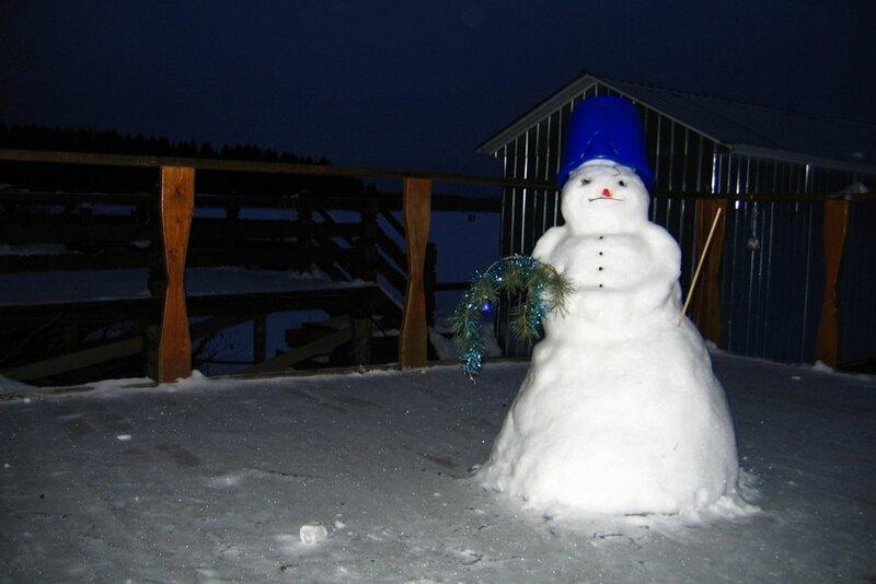 Снеговик на пристани, Селигер