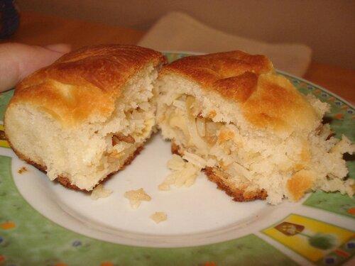 Пирожки с рисом и грибами