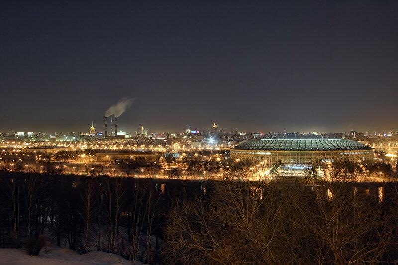 воробьевы горы фото зимой ночью гибели лабоцкого