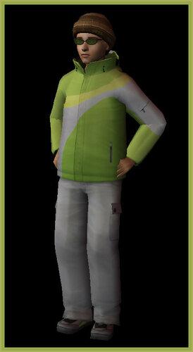 Teen male snowsuit