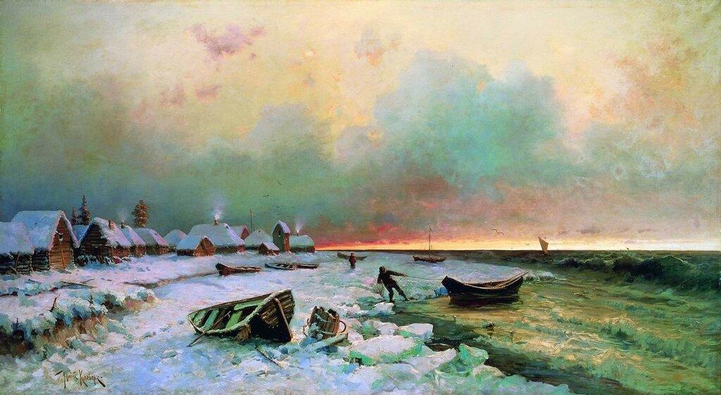 Деревня на острове Нарген. 1881 КлеверЮлий Юльевич