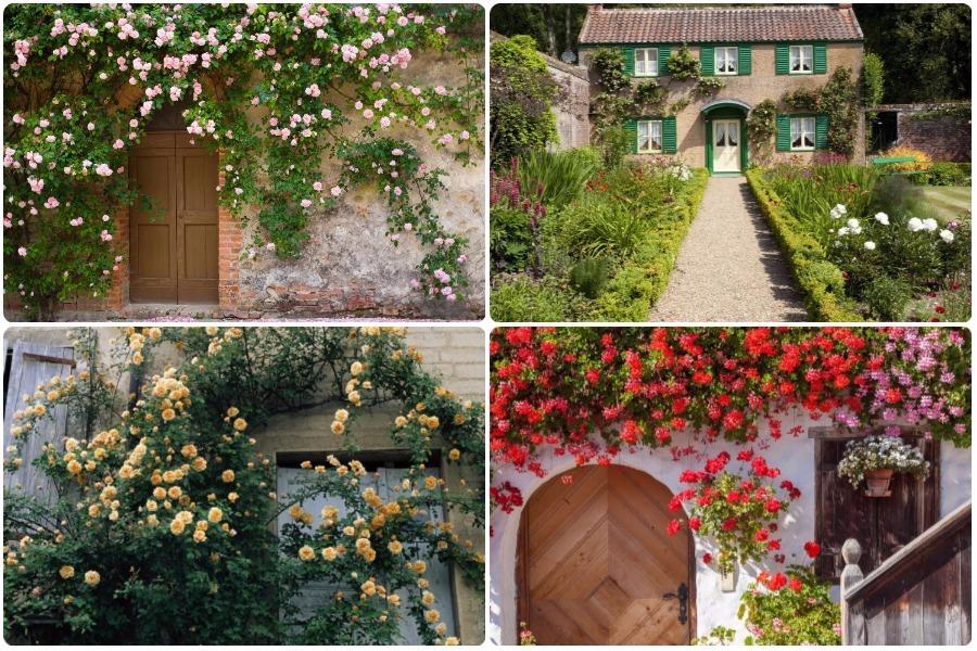 15 вариантов оформления входа в дом