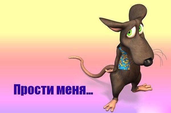 Прости меня! Мышонок просит прощения!