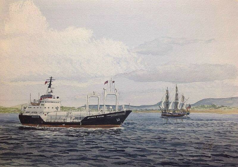 A recent commission, Gas Tanker James Cook.
