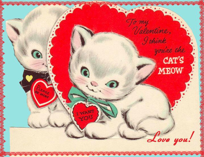 Валентинки с котятами пожеланиями