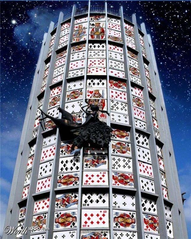 Добро пожаловать в карточный мир! Работы фотошоперов с игральными картами