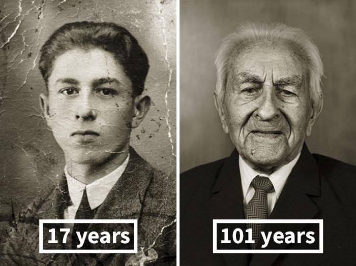 Антонин Балдрман, 17 лет (мастер слесарного дела) и 101 год.
