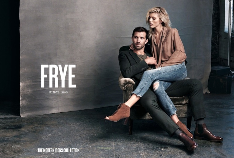 Девон Виндзор и Люк Рокхолд в рекламе FRYE