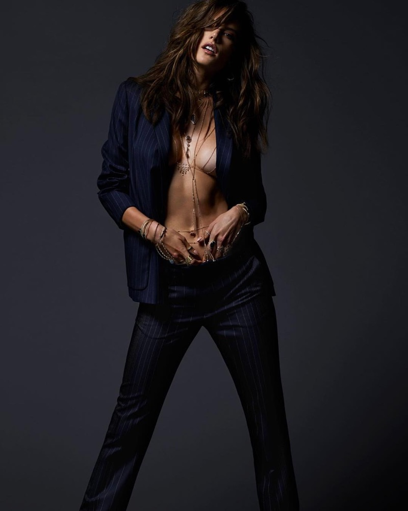 Алессандра Амбросио в рекламе Jacquie Aiche