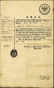 1873 Податное управление города Риги, вид для беспрепятственного проживания.
