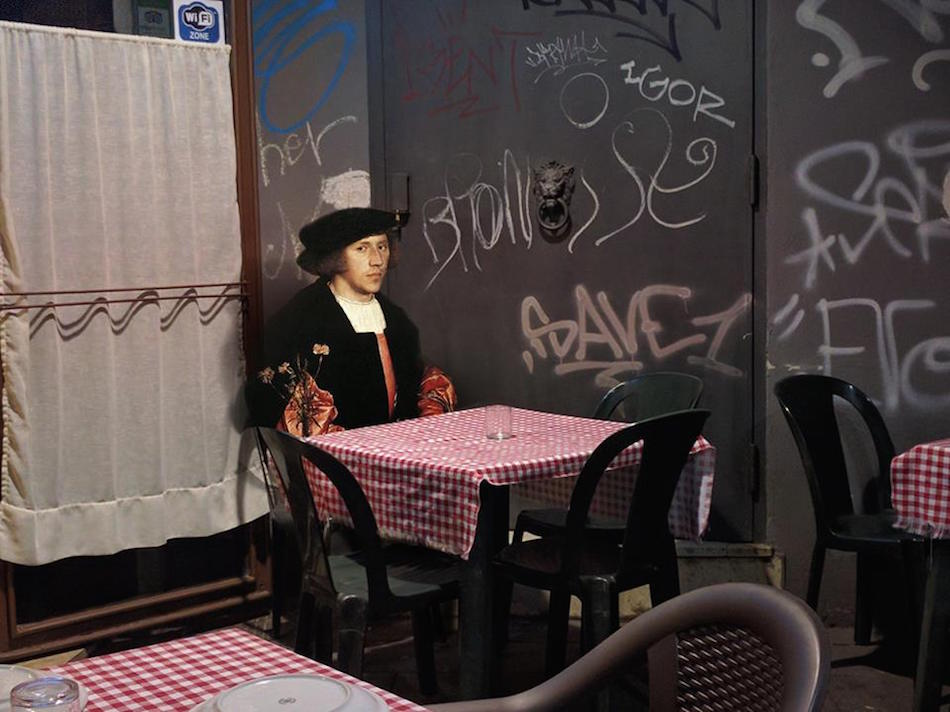 New Classical Paintings Reimagined as Part of Modern-Day Italian Life by Alexey Kondakov