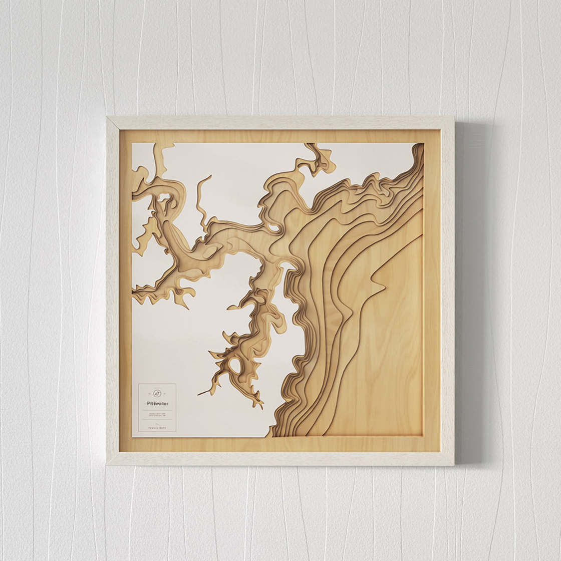 Pangea Maps – Explore the seabed with these stunning wooden maps (10 pics)