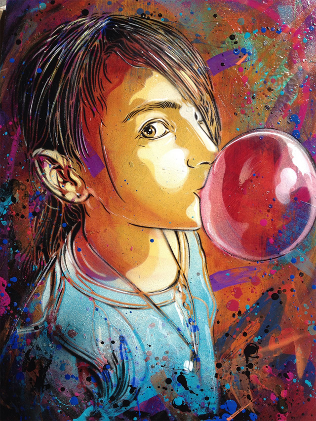 New Works – Street Artist – C215 (9 pics)
