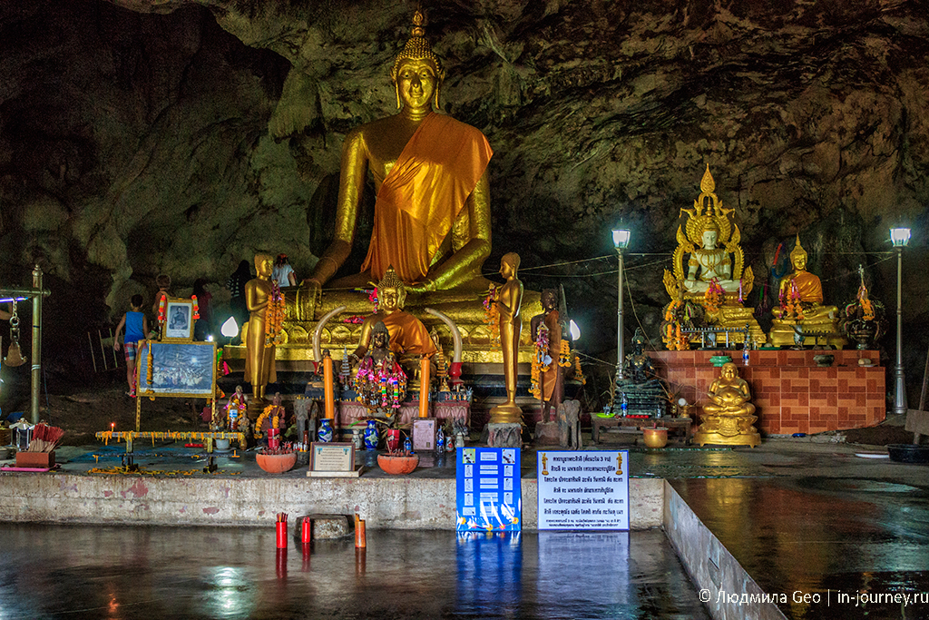 золотой Будда в пещере